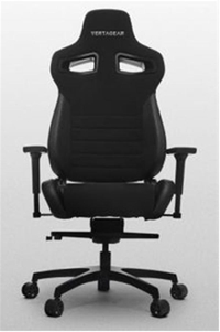 VERTAGEAR Racing Series P-Line PL4500 Gaming Chair Coffee Fiber With Silver Embroirdery Black Edition VG-PL4500-BK