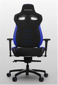 VERTAGEAR Racing Series P-Line PL4500 Gaming Chair Coffee Fiber With Silver Embroirdery Black/Blue Edition VG-PL4500-BL