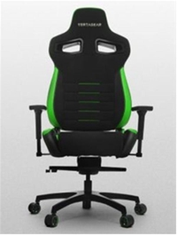 VERTAGEAR Racing Series P-Line PL4500 Gaming Chair Coffee Fiber With Silver Embroirdery Black/Green Edition VG-PL4500-GR