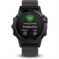 Garmin Fenix 5 Sapphire Black with black band שעון דופק
