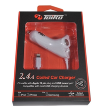 מטען לרכב Fast Charger for iPhone 6 Toiko 2.4A
