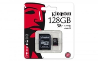 כרטיס זכרון Kingston MicroSDXC UHS-I SDC10G2/128GB - נפח 128GB