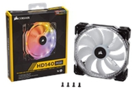 Corsair HD140 RGB LED High Performance 140mm PWM Fan CO-9050068-WW
