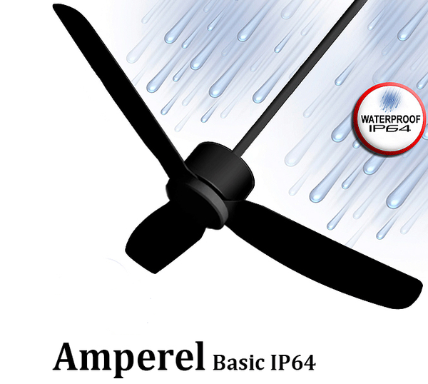 מאוורר תקרה אמפראל '52 מוגן מים Amperel Basic IP64